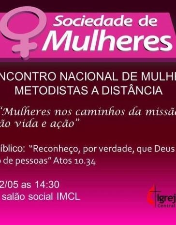 XV Encontro Nacional de Mulheres Metodistas à distância