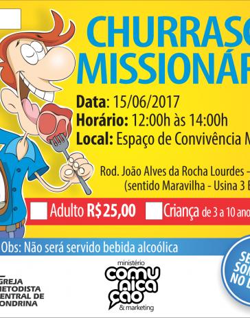 15 de Junho - Churrasco Missionário