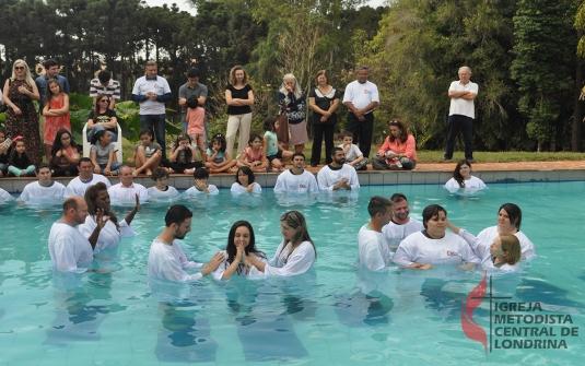 Foto Batismo Julho 2018
